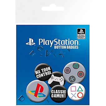 Playstation Classic Pin Button Badges Set