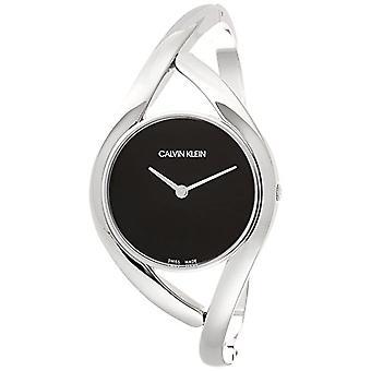 Calvin Klein women's Quartz analogue watch with stainless steel band K8U2M111