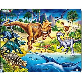 Larsen Jigsaw Puzzle - Dinosaurs From The Cretaceous Period, 57 Piece