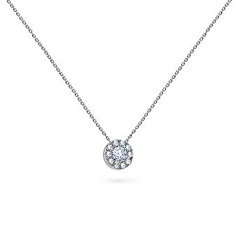 Naszyjnik Mini Circle Diamenty 18K Złoto