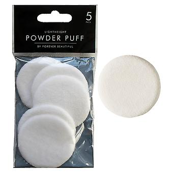 Pack Of 5 Cosmetic Powder Puff Makeup Sponges