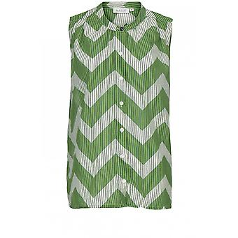 Masai Clothing Idemi Green Zig Zag Blouse