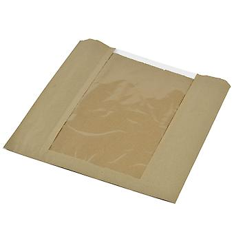 Vegware Compostable Kraft Window Bags 10inch