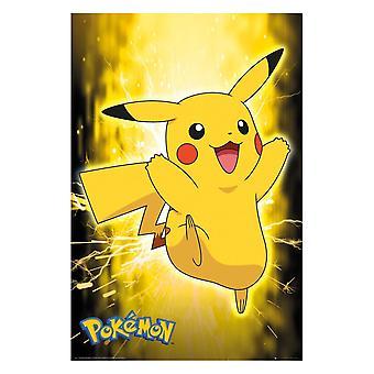 Pokémon, Maxi Poster - Neon Pikachu