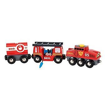 BRIO 救助消防電車 33844 木製列車セット
