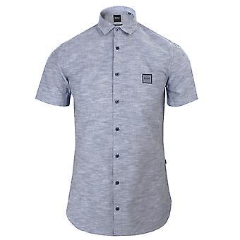 Hugo boss magneton_1-short men's navy marl shirt