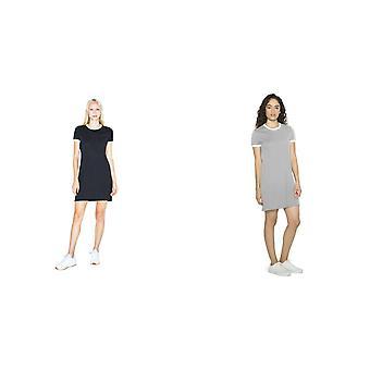 Amerikkalaiset treeni vaatteet naisten/naisten 50/50 Ringer T-paita mekko