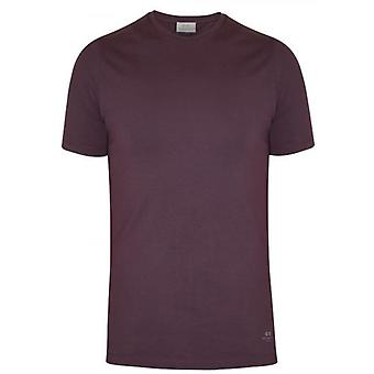 CC Collection Corneliani Burgundy Crew Neck T-Shirt