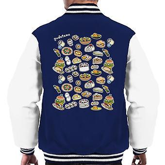 Gudetama Food Montage Men's Varsity Jacket