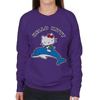 Hello Kitty Riding Dolphin Kvinner&s Sweatshirt