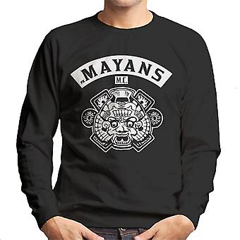 Mayans M.C. Motorcycle Club Face White Logo Emblem Men's Sweatshirt