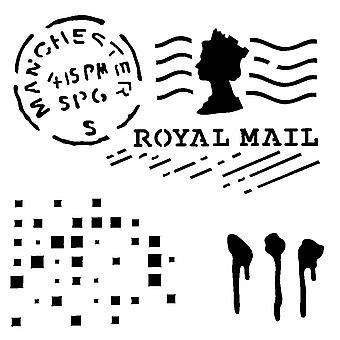 IndigoBlu Postmark 6x6 Inch Stencil
