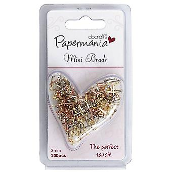 Papermania Mini Brads Metallics (200pk) Assorted Gloss (PMA 3741104)