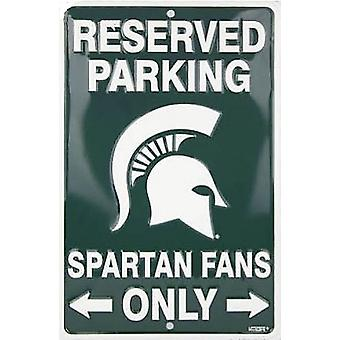 Michigan State Spartans NCAA Fans Only Reserved Parking Sign