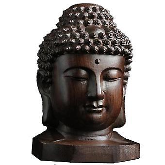 Creative Wooden Buddha Statue -  Wood Sakyamuni Statue, Tathagata Figurines