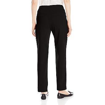 Ruby Rd. Women-apos;s Pull-On Solar Millennium Super Stretch Pant, Noir, 12