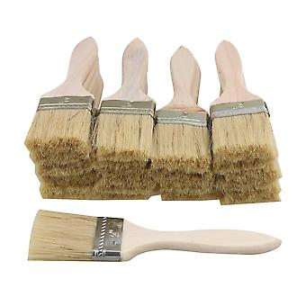 20pcs Thin Wooden Handle Paint Brush 2 inch