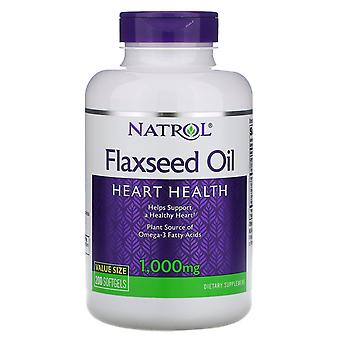 Natrol, Flaxseed Oil, Heart Health, 1,000 mg, 200 Softgels