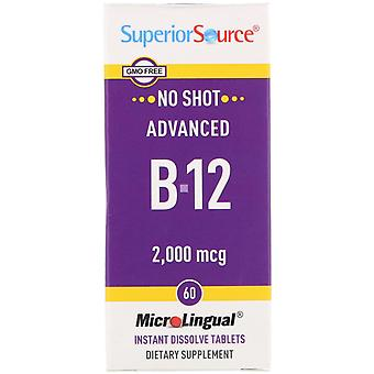 Superior Source, Advanced B-12, 2,000 mcg, 60 Tablets