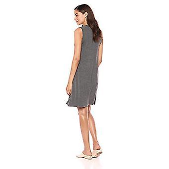 Marque - Daily Ritual Women's Jersey Muscle Swing Dress, Charcoal Heath...