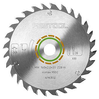 Festool 496302 Universal Saw Blade voor hout 160mm x 20mm x 28T