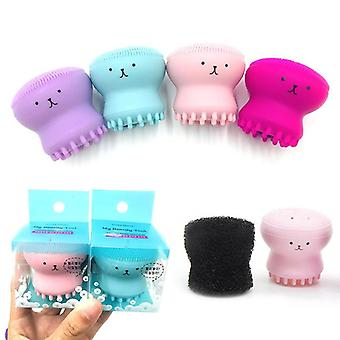 Silicone Face Cleansing Brush Octopus Shape Facial Cleanser Exfoliator Face Scrub Washing Brush