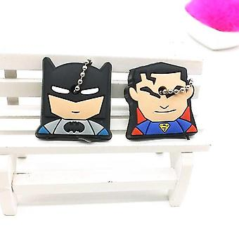 Cartoon Silicone Protective Key Case Cover 2pcs - Key Holder Dust Cover Keychain