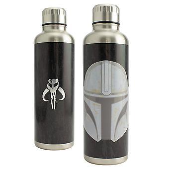 The Mandalorian Large Metal Water Bottle 500ml Licensed Star Wars