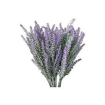 12PCS Artificial Lavender Bouquet Decration Purple
