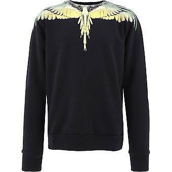 Marcelo Burlon Cmba009f20fle0111016 Men's Black Cotton Sweatshirt