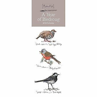 Otter House 2021 Slim Calendar - Madeleine Floyd A Year Of Bird Song