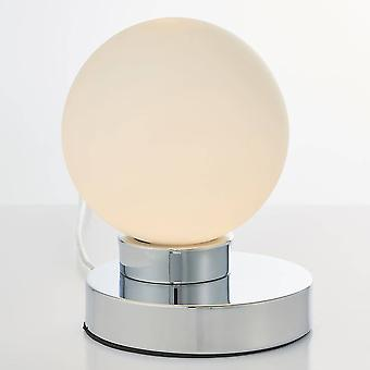 Endon Ratio - 1 Light Globe Tisch Licht ChromPlatte & Glanz Opal Glas, G9