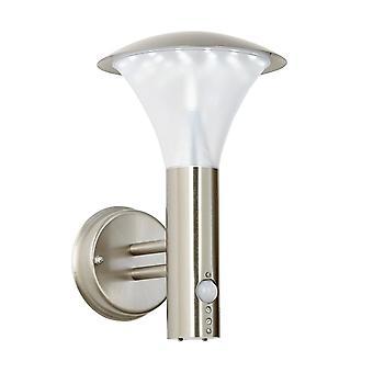Endon Francis Pir - PIR 1 Lumière extérieure lumière brossée acier inoxydable, polycarbonate givré IP44