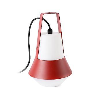 1 lichte buitentafellamp wit, rood IP54, E27