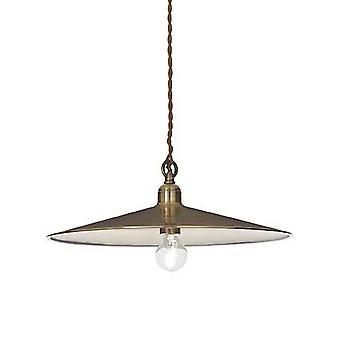 Ideale Lux Cantina - 1 lichte grote koepel plafond hanger antieke messing, E27