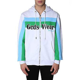 Gcds Fw19m020003 Men's White Cotton Sweatshirt