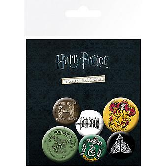 Harry Potter Official Button Badges (Pack Of 6)