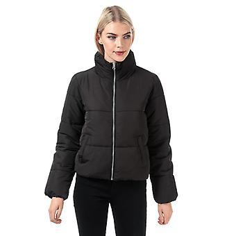 Women's Jacqueline de Yong New Erica Padded Puffer Jacket in Black