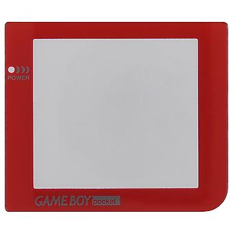 Zedlabz replacement screen lens plastic cover for nintendo game boy pocket - red