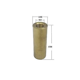 M10 Copper Female Thread Hollow-tube Brass Cylinder, Threaded Coupler Conveyer