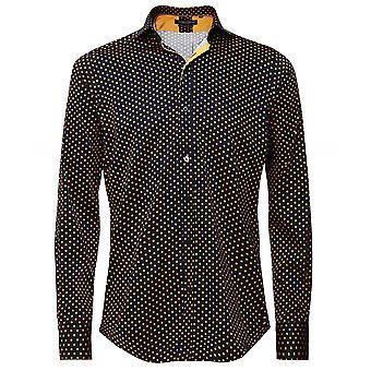 Guide London Slim Fit Polka Dot Shirt