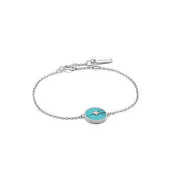 Ania Haie Hidden Gem Rhodium Turquoise Emblem Bracelet B022-02H