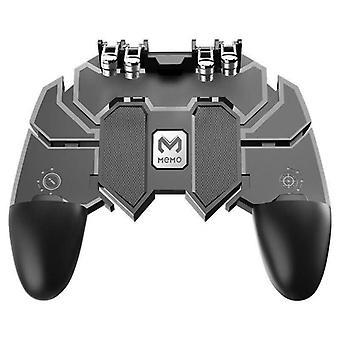 الأصلي Pubg Ak66 ستة إصبع الكل في واحد موبايل تحكم لعبة مجانا مفتاح النار مفتاح عصا التحكم غمست لبوب (أسود)