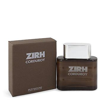 Corduroy Eau De Toilette Spray By Zirh International 2.5 oz Eau De Toilette Spray