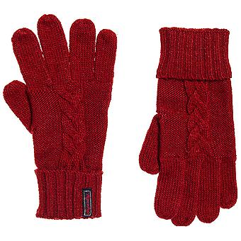 Superdry Lanneh Cable Gloves - Furnace Red