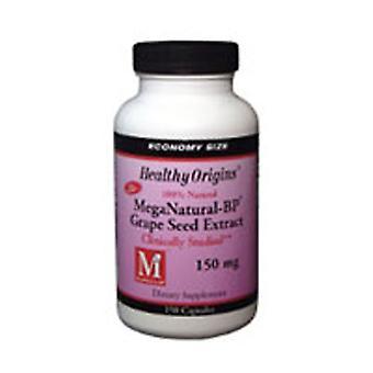 Origines saines Mega Nattural BP Extrait de pépins de raisin, 150 mg, 150 bonnets de légumes