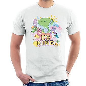 Care Bears Unlock The Magic Be Kind On Earth Męska koszulka