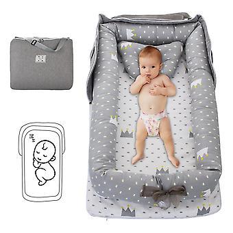 Baby Lounger Folding Portable Nest Bed/girls, Infant Cotton Cradle Crib Travel