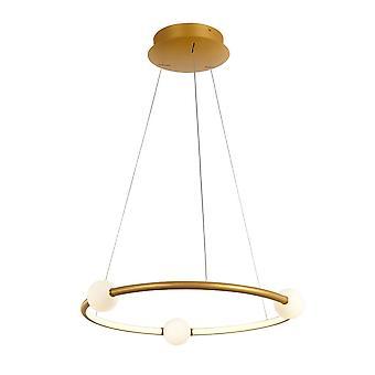 Italux Lausanne - Moderne LED Opknoping Hang Hang Hang Antieke Brons, Warm Wit 3000K 2100lm Dimbaar