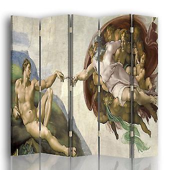 Paravent - Cloison avec Impression recto / verso La Création D'Adam - Michelangelo Buonarroti